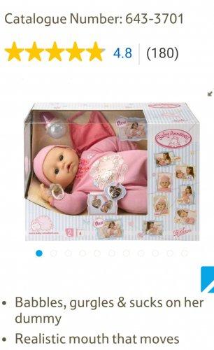 Baby Annabelle doll - £25 instore @ Tesco