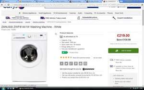 Currys ZANUSSI ZWF81441W Washing Machine - White
