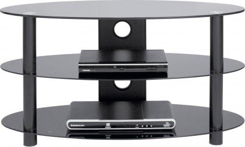 Black Glass 32 Inch Curved Slimline TV Stand £13.99 delivered @  Ebay / Argos