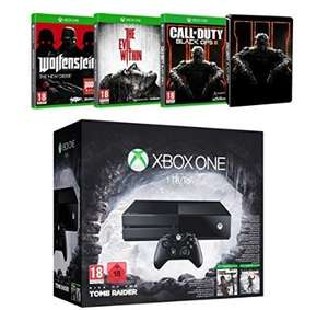 Xbox One 1Tb and 5 Games! Rise of the Tomb Raider + Tomb Raider Definitive Edition + Call of Duty Black Ops III + The Evil Within + Wolfenstein : The New Order at Amazon.fr £259.88