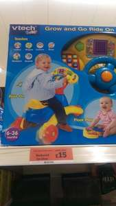 vtech baby grow and go ride on £15 @ Sainsbury