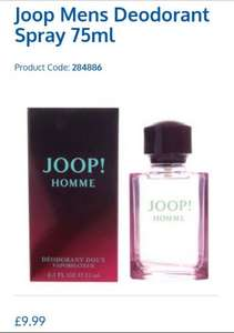 joop mens aftershave 75ml £9.99 b&m
