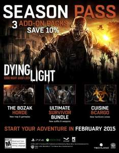 dying light season pass price hike 8th dec £15.99 @ videogamer