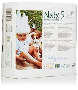 * Naty By Nature Babycare Nappies - Size 5 - Large - 23 Pack £3.50 (half price!), free cc @ Tesco Direct and Amazon (back in stock, details in the description)