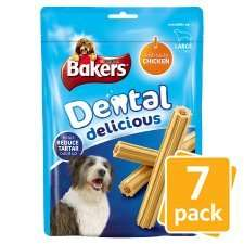 Bakers Dental Delicious Dog Treats £2.09 or 2 for £2 @ Tesco