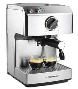 Andrew James Espresso Coffee Maker was £99, reduced to £72.99 and now £65.70 with code GIFT10, free del