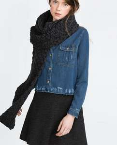 Zara Knitted Scarf: Choice of three colours - £3.99  (C&C)
