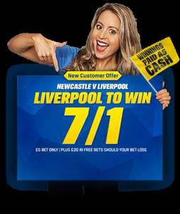 Guaranteed to win between 50p and £30 at Coral on Newcastle vs Liverpool