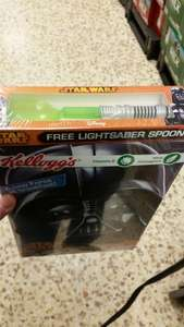 Free Light Sabre spoon with a kellogs Star Wars cereal