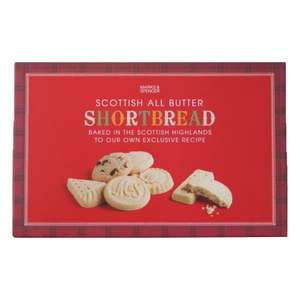 Marks and Spencer all butter Scottish shortbread 560g half price just £3