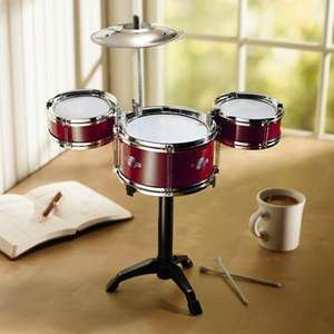 not content with annoying people at home?!? do it at work too with the desktop drum kit only £2.99 @ home bargains