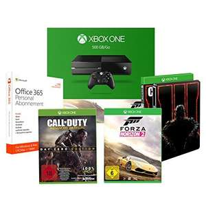 Xbox One 500GB Forza Horizon + Call of Duty: Black Ops III - Standard incl Steelbook + Call of Duty:. Advanced Warfare - Day Zero Edition + Microsoft Office 365 staff - 1 PC / MAC - 1-year subscription Amazon.DE Deal of the Day