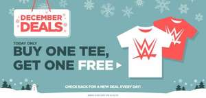 Wwe Euroshop official WWE T shirts BOGOF code MERRY