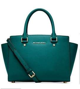 Michael Kors Teal/Gold/Wisteria Medium Selma Handbag - £128.97 Macys.com shipped with taxes paid