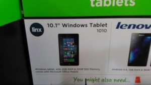 asda linx 1010 windows 10 tablet 10 inch ( ish) ( new model) 32 gb 2 gb ram etc £99