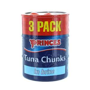 Princes Tuna Chunks in Brine - 3 Pack - 160g - £1.31 - Tesco instore (44 pence a can)