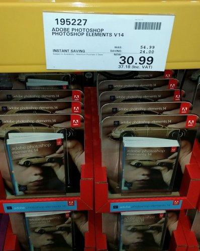 Adobe Photoshop Elements V14 £37.18 at Costco