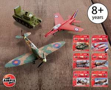 Airfix starter kits - 6 models £4.99 each Aldi Sun 13th Dec