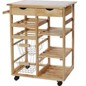 Pine Tile Top Kitchen Trolley  £23.99 at Argos with code HWARES20