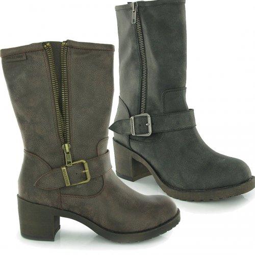Hallie mid heel boots in black or Brown £30 delivered @ Rocket Dog (Using code / FREE Returns)