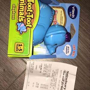 v tech toot toot 'cars' £2.80 @ Sainsburys instore