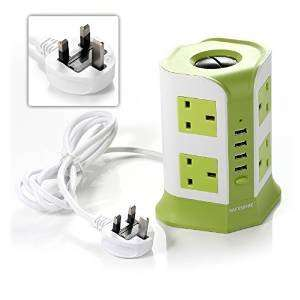 Safemore 2 metre 8 Way Extension Lead Overload Protection with 4 USB Port Charger £24.99 @ amazon.co.uk