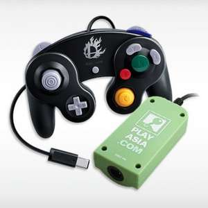 Black/White Smash Bros JP GameCube Controller with Adaptor for £13.08 on Play Asia