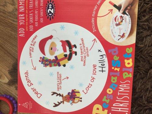 Personalised Santa plate £2.99 @ B&M