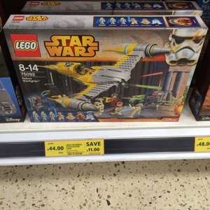 Lego Star Wars Naboo star fighter £44.00 from £54.99 in store at Tesco nationally