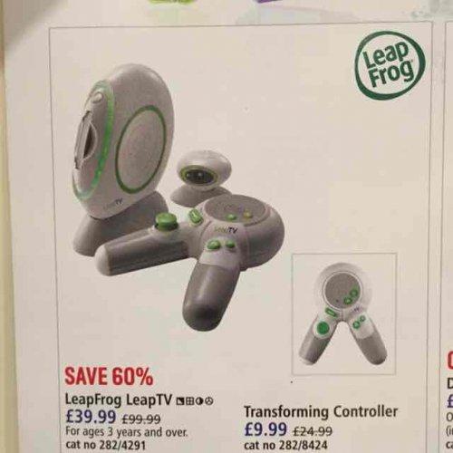 Leapfrog Leap TV Console (39.99) & Controller (9.99) @ Argos