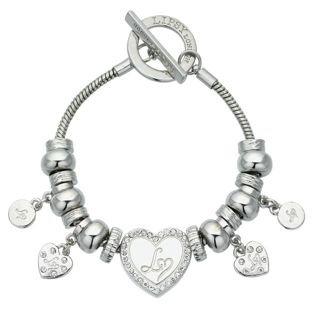Lipsy Silver Heart Charm Bracelet £7.99 @ argos