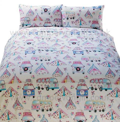 Shabby Chic Campervan Duvet and Pillow Case Set £9.95 @ Campervan Gifts