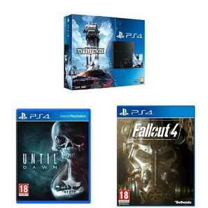 Sony PlayStation 4 500GB with Star Wars Battlefront, Until Dawn & Fallout 4 (PS4) £299.99 delivered at Amazon