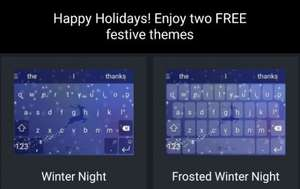 SWIFTKEY -- TWO Free Festive Themes