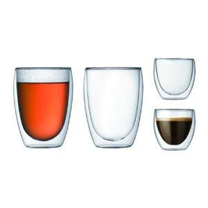 BODUM Pavina Double Wall Glass Set Glass Set - 4 pieces £12.99 @ Currys (free delivery)