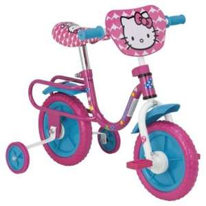 """** Hello Kitty 10"""" Kids' Bike with Stabilisers only £10 @ Tesco Direct (or £5 using Boost) **"""