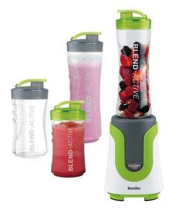 Breville Blend-Active Personal Blender Family Pack, White and Green £23.99 @ Amazon or Argos (collect in store)