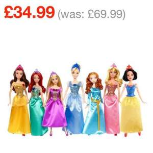 Disney Princess Dolls 7 Pack was £69.99 now £34.99 @ Smyths Toys