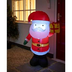 120cm Light Up Inflatable Santa Half Price, only £15.00 @ Wilko