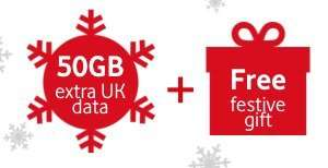 Vodafone FreeSIM - 50gb of free data and a festive gift! (Min £10 top up)