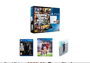 £299.99 Sony PlayStation 4 500GB with GTA V, The Last of Us: Remastered, FIFA 16 and Steelbook @ Amazon