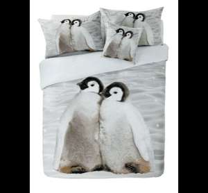 Penguin Double Duvet Set £11.99 @ Argos