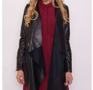 Black PU Waterfall Jacket was £69.00 Now £12.00 + £2.95 del @ Rarelondon With Code