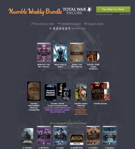 Total War Encore Bundle 66p @ Humble Bundle