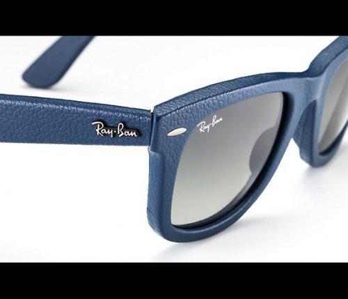 Blue wayfarer leather Ray Bans £64.50 at the Sunglass Hut Gunwharf Quays