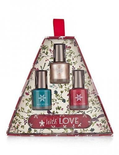 Nail Polish Gift Set (3x Nail Varnish + Emery Board) £3.25 (was £6.50) + Free C&C from M&S