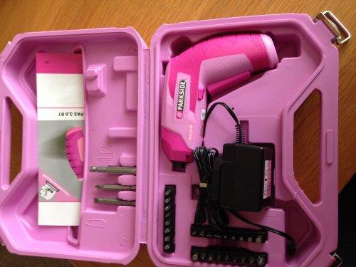 pink 3.6v cordless screwdriver £6.99 @ lidl