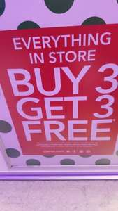 claires - buy 3 get 3 free