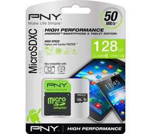 PNY MicroSD card 128GB - £29.99 @ Currys