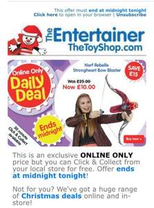 Nerf Rebelle Strong Heart Bow £10 @ The Entertainer ONE DAY ONLY